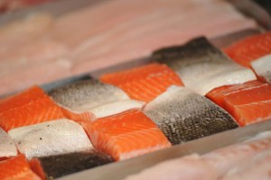 fresh seafood salmon