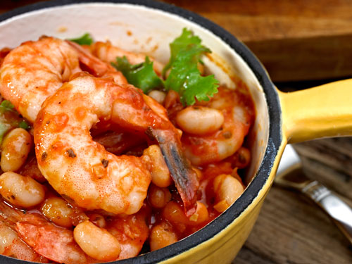 Cooked Prawns With Fresh Tomato Sauce
