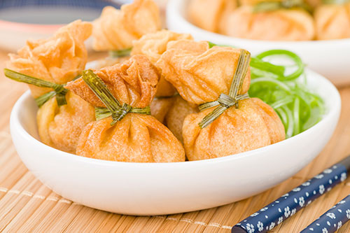 Prawn and Chestnut Wontons